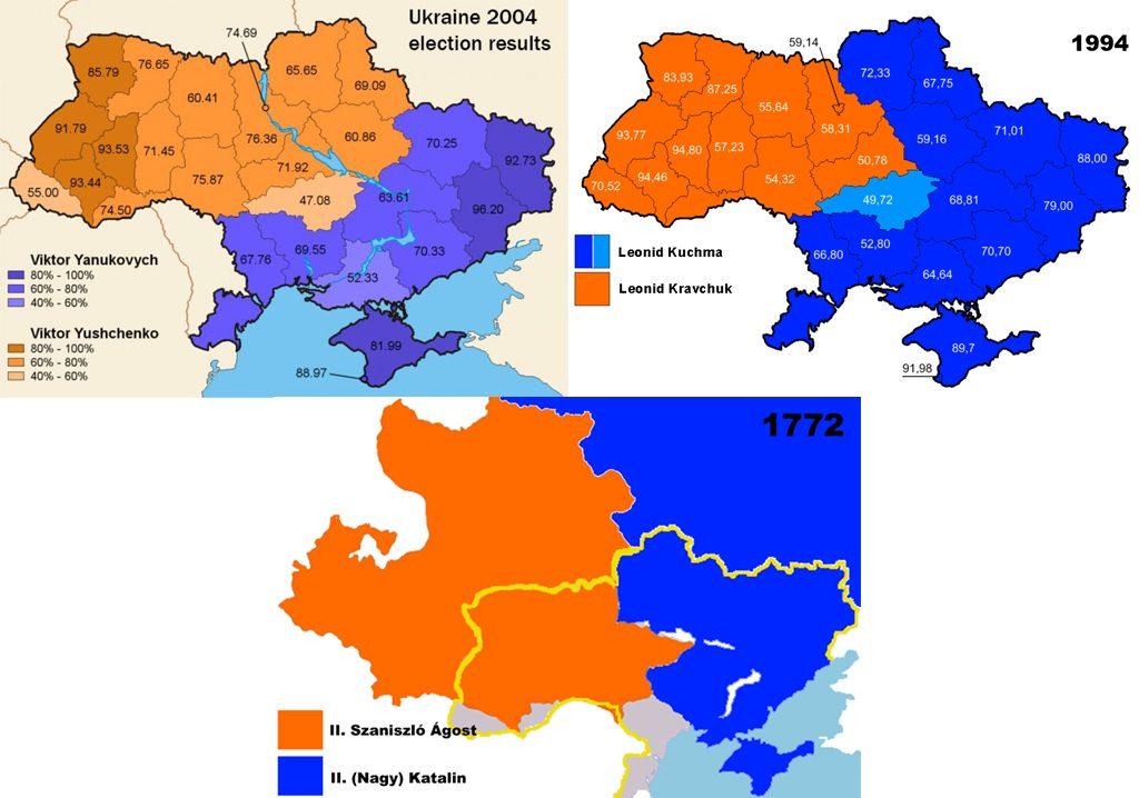 Az ukrán választások időtlen idők óta rendkívül hasonló eredményeket hoznak, de hát a tökéletes történelemhamisítás olyan, mint a tökéletes bűntény. Előbb-utóbb úgyis elhasalsz valamin.