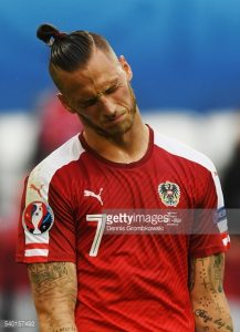 during the UEFA EURO 2016 Group F match between Austria and Hungary at Stade Matmut Atlantique on June 14, 2016 in Bordeaux, France.